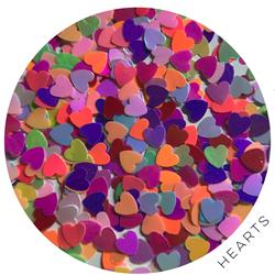 Wildflowers Glitter Pot - Hearts #13430
