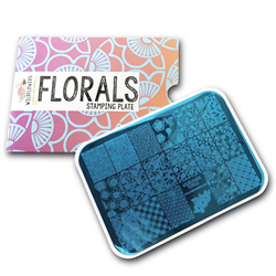 Wildflowers Florals Stamping Plate   #7025