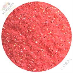 Widflowers Fantasy Glitter Pot - Coral #14000