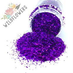 Wildflowers Glitter Pot - Royal  #10375