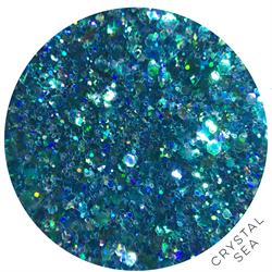 Wildflowers Glitter Pot - Crystal Sea  #10875