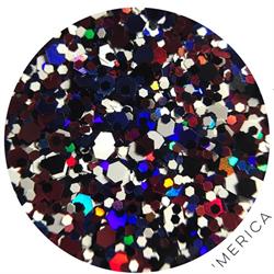 Wildflowers Glitter Pot - Merica  #13850
