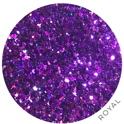 Wildflowers Glitter Pot - Royal  #10375